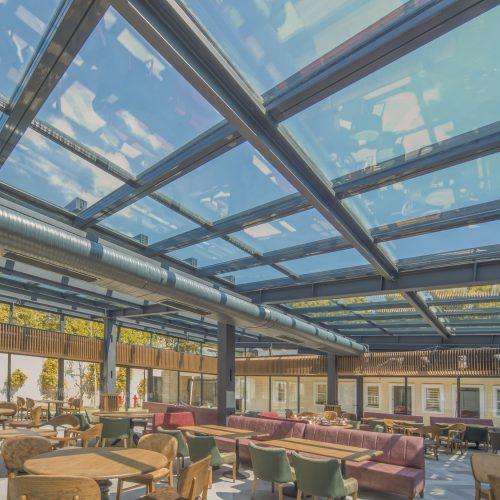 Systèmes en Verre, Toiture en Verre, Terrasse de Restaurant