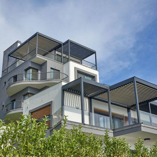Pergola Bioclimatique à Lames Orientables Balcon de Villa
